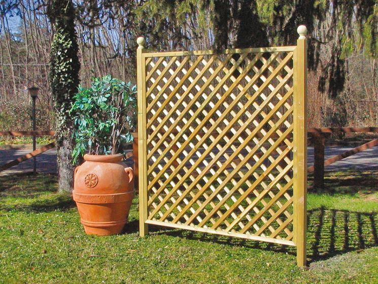 Griglie legno giardino grigliati e frangivento griglie - Nascondere griglia giardino ...