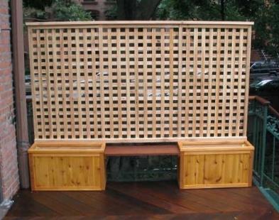 Pannelli grigliati da giardino grigliati e frangivento - Fioriera con grigliato ikea ...