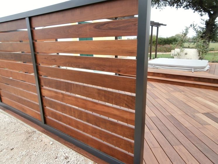Pannelli grigliati in legno - Grigliati e frangivento - Utilizzare i pannelli grigliati in legno