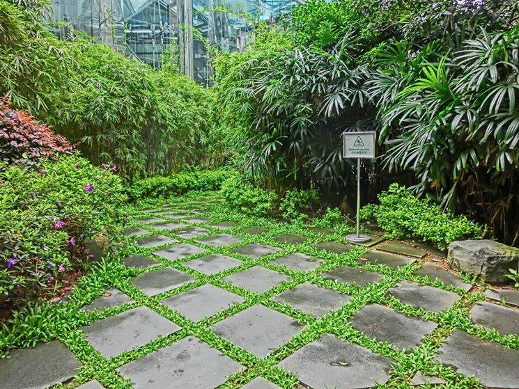 Pavimentazione da giardino in pietra