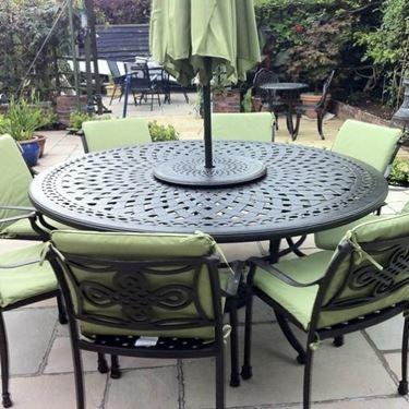 Strutture rimovibili come ombrelloni sono una soluzione ottimale per creare zone d'ombra