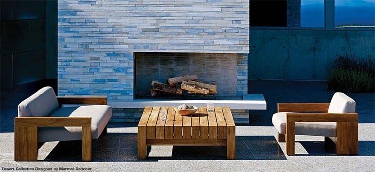 Arredo giardino in legno minimal