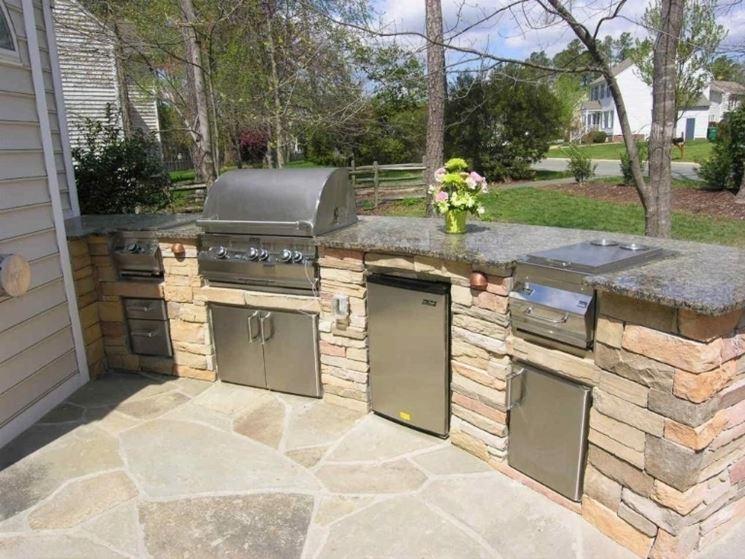 Cucina da giardino mobili giardino - Cucina da esterno ...