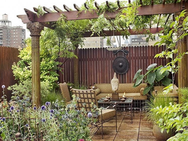 Un piccolo giardino privato è l'ideale per isolarsi da tutto
