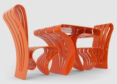 Mobili da giardino in plastica: colore e design
