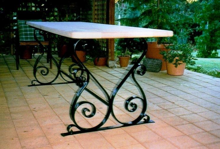 Mobili giardino in ferro battuto - Mobili giardino