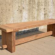 Panchina in legno moderna