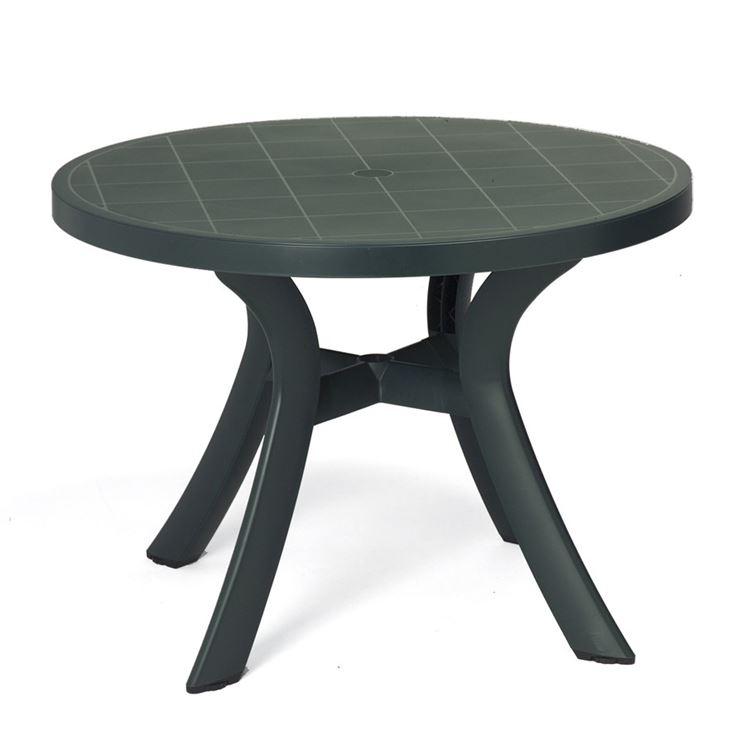 Tavolo da giardino in plastica rotondo