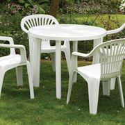 Classico tavolo in plastica da giardino