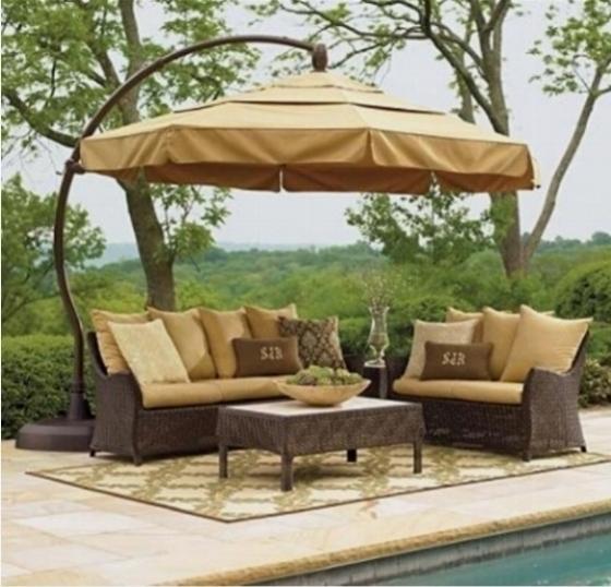 Ombrelloni a braccio da giardino ombrelloni da giardino - Mobili giardino maison du monde ...