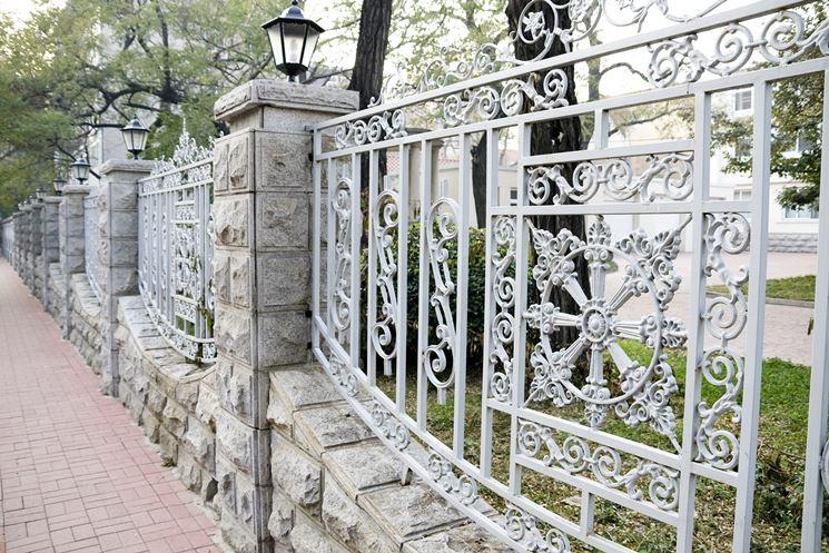 esempio di recinzione in ferro battuto