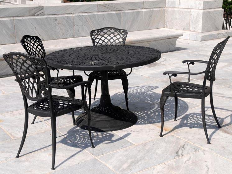 esempio di sedie in ferro battuto da giardino