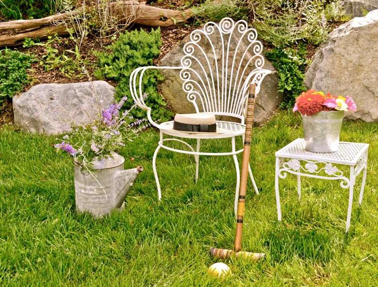 Sedie da giardino in ferro battuto - Tavoli da giardino ...