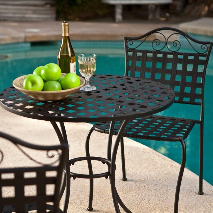 Sedie da giardino in ferro battuto moderne