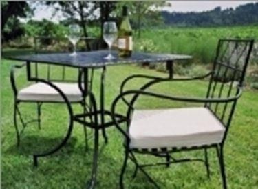 Sedie da giardino in ferro tavoli da giardino - Mobili da giardino in ferro ...