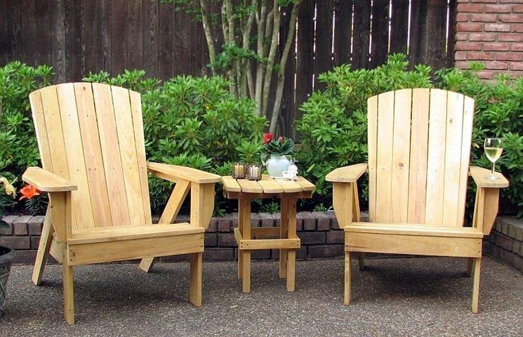 Sedie da giardino in legno