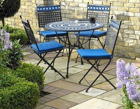 Tavoli da giardino a mosaico - Tavoli da giardino