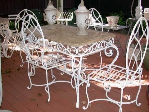 Tavolo Giardino Ferro Battuto Bianco.Tavoli Da Giardino In Ferro Battuto Tavoli Da Giardino