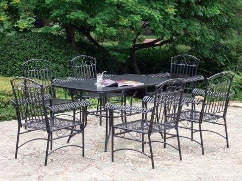 Tavoli da giardino in ferro battuto tavoli da giardino - Set da giardino ferro battuto ...