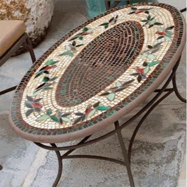 Tavoli da giardino in ferro tavoli da giardino - Tavoli da giardino in ferro battuto e mosaico ...