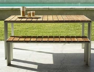 Tavoli da giardino in legno tavoli da giardino - Tavolo pieghevole da giardino ...