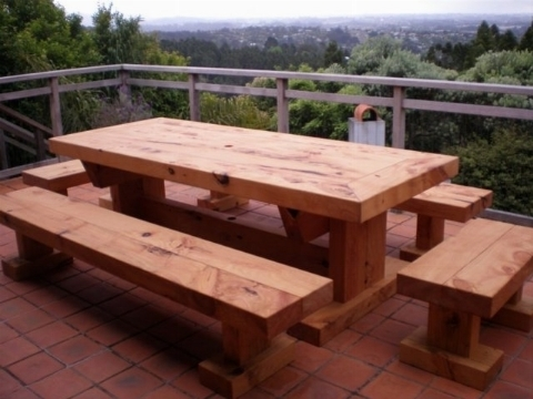 Tavoli da giardino in legno tavoli da giardino - Mobili in legno da esterno ...