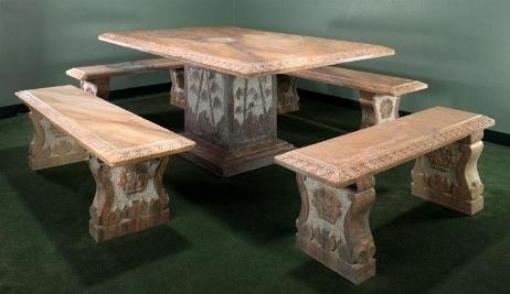 Tavoli Da Giardino In Ferro E Pietra.Tavolo In Marmo Da Esterno