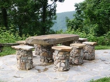 Tavoli da giardino in pietra - Tavoli da giardino