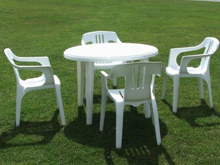 Tavoli da giardino in plastica