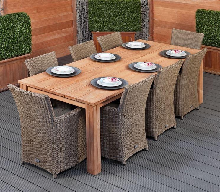 Tavolo outdoor in legno