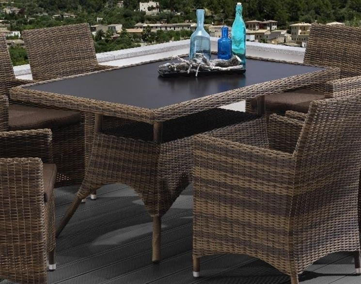 Tavoli per esterni tavoli da giardino tavolo per for Mobili giardino rattan sintetico