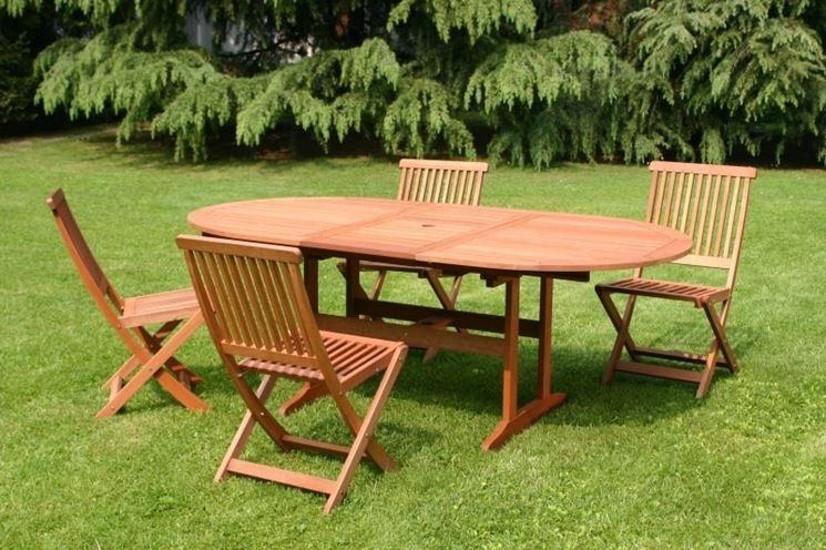 tavolo giardino legno