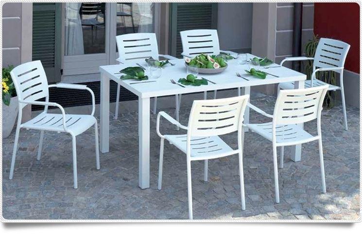 tavolo da giardino alluminio