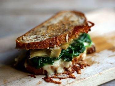 panino con spinaci