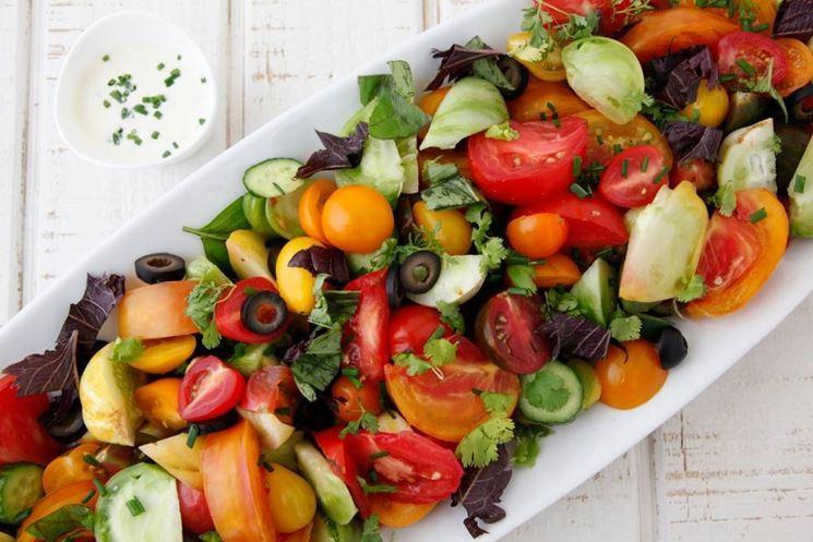 Una splendida insalata succosa e salutare.