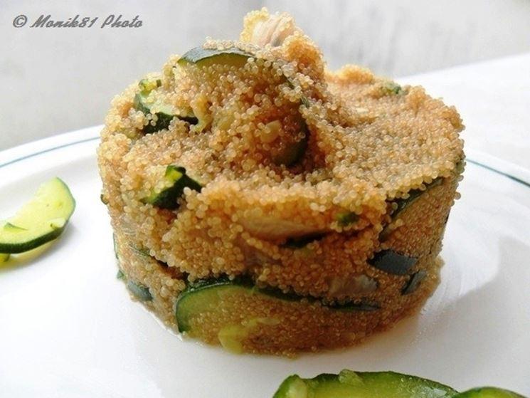 Tortino di Amaranto con zucchine
