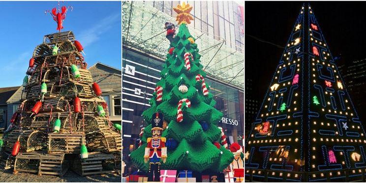 alberi di Natale strani