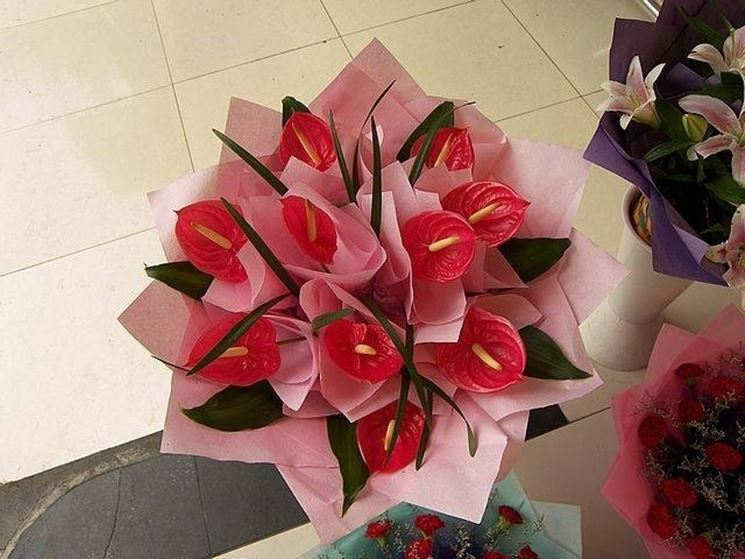 bouquet d'anthurium