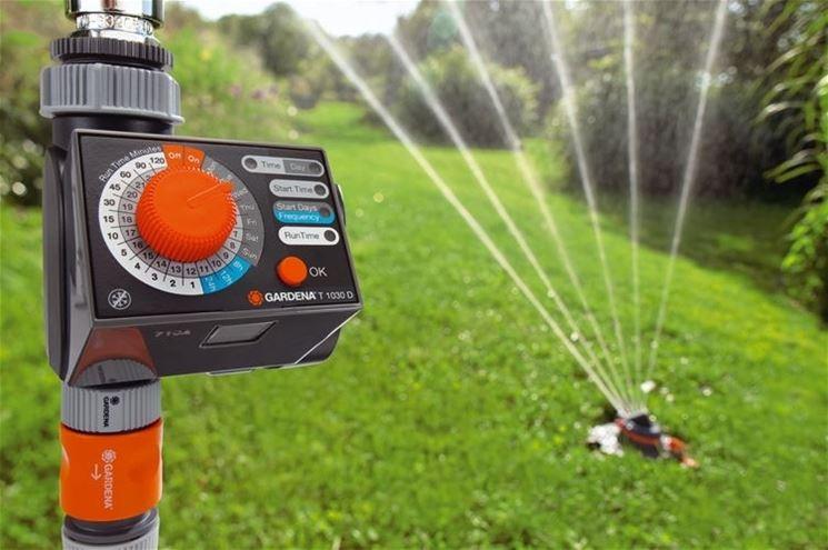 Un impianto di irrigazione della Gardena