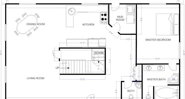 Pianta casa piante appartamento disegnare la pianta di for Planimetria stanza