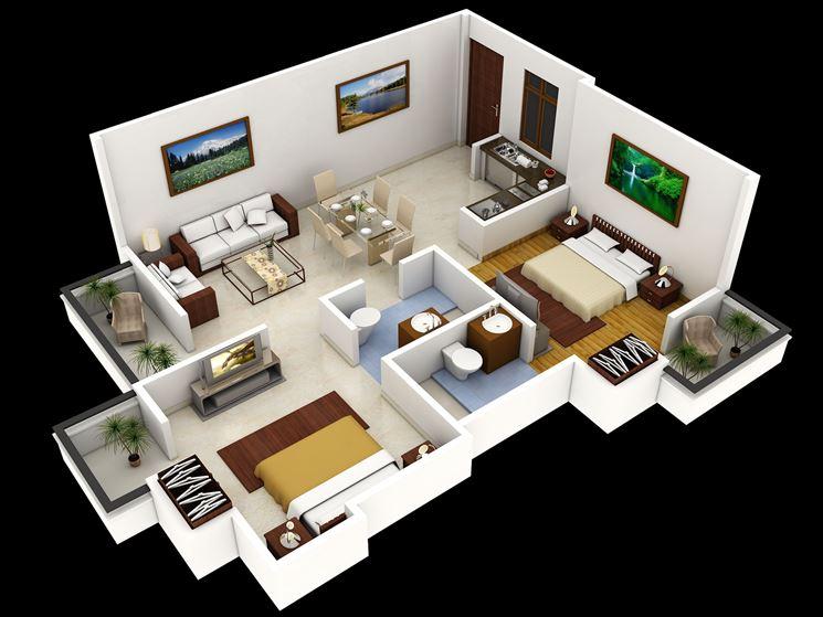 Piante Da Appartamento 3d.Pianta Casa Piante Appartamento Disegnare La Pianta Di Una Casa