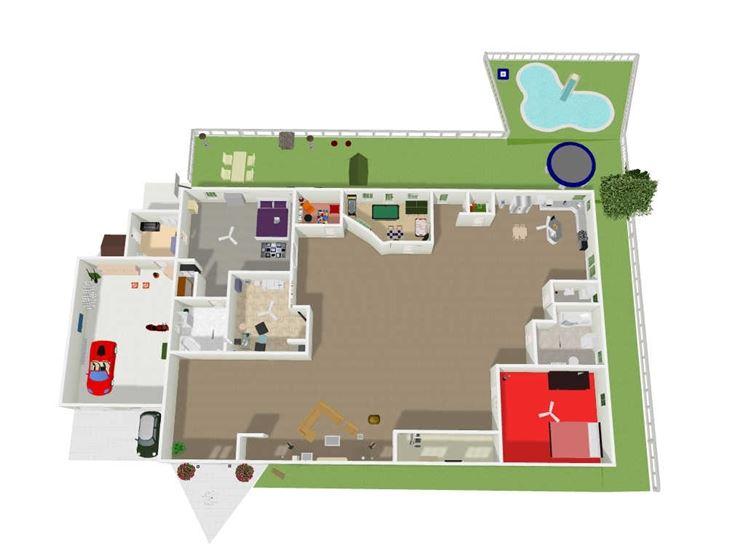 Pianta casa piante appartamento disegnare la pianta di for Disegnare interni casa