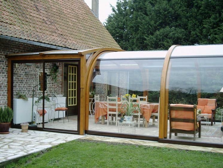 Coperture per terrazzi in vetro