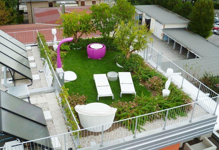 Giardino pensile piante da terrazzo come realizzare un for Progettare un terrazzo giardino