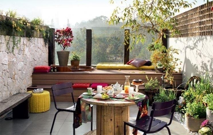 Come Arredare Una Terrazza Con Piante. Finest Terrazza By Design L ...