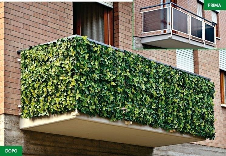 Siepi finte per balconi - Recinzione terrazzo ...